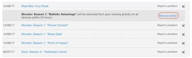 Remove netflix watching list