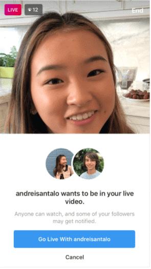 Respond To Instagram Livestream Request