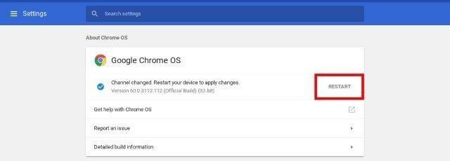 Restart google chrome