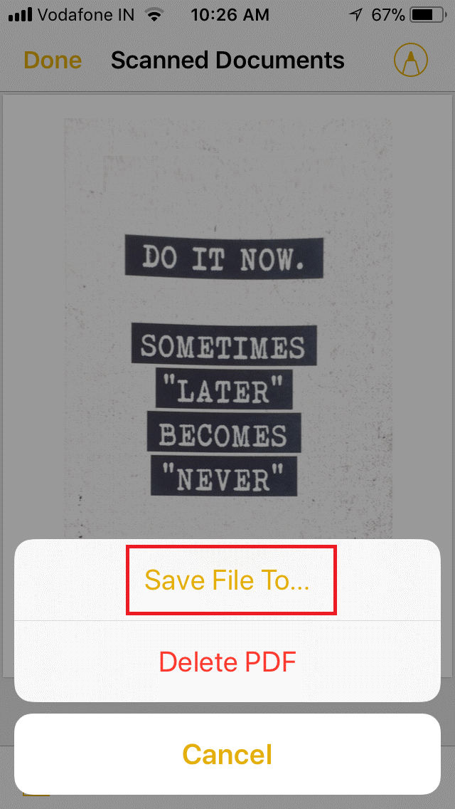Scan Documents using Notes app in iOS 11