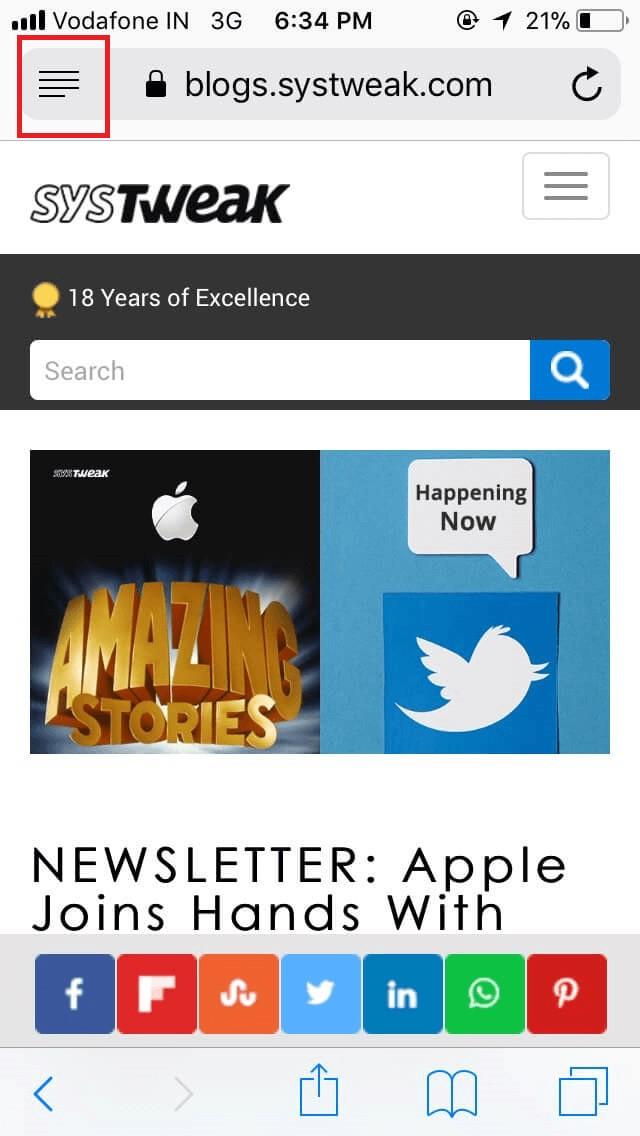 Set Reader Mode on an iPhone