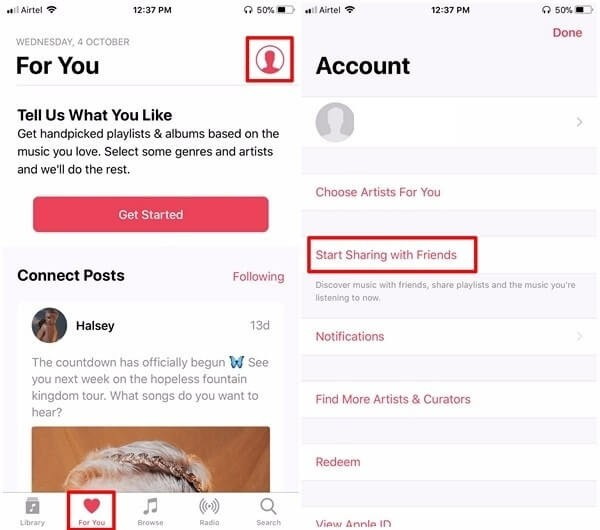 Steps To Create an Apple Music Profile in iOS 11