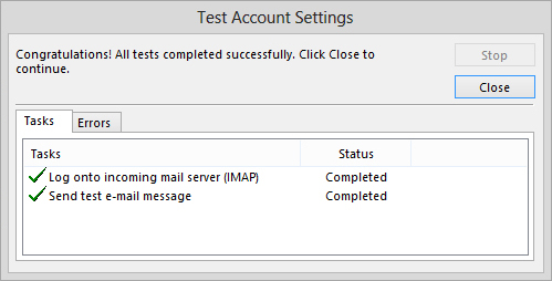 test-yahoo-account-in-outlook