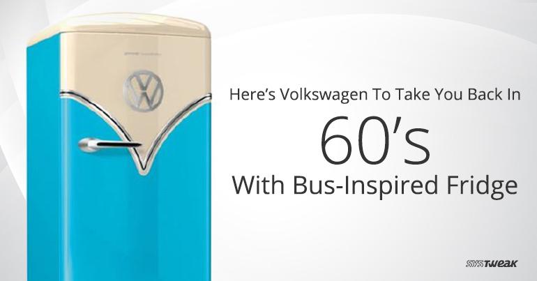 This Volkswagen Inspired Fridge Will Take You Back To Swingin' 60's