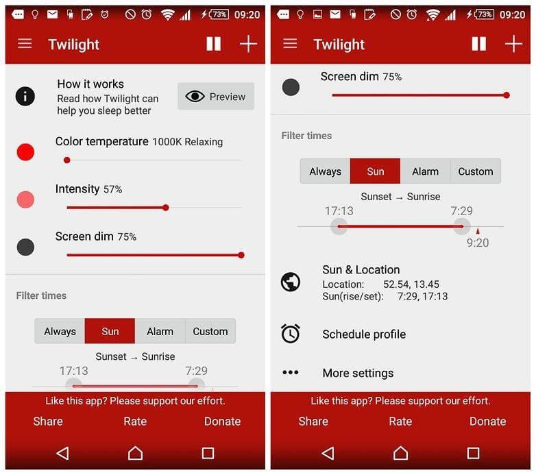 Twilight sleep tracking app 2017