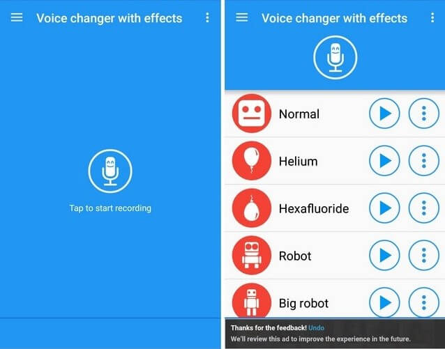 Voice changer and effect