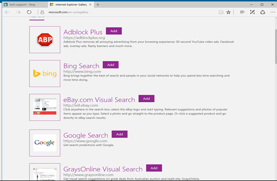add search engine in IE