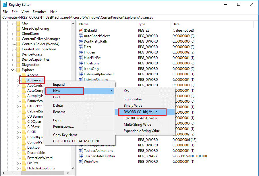 advanced registry