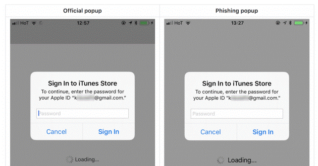 apple phishing attack