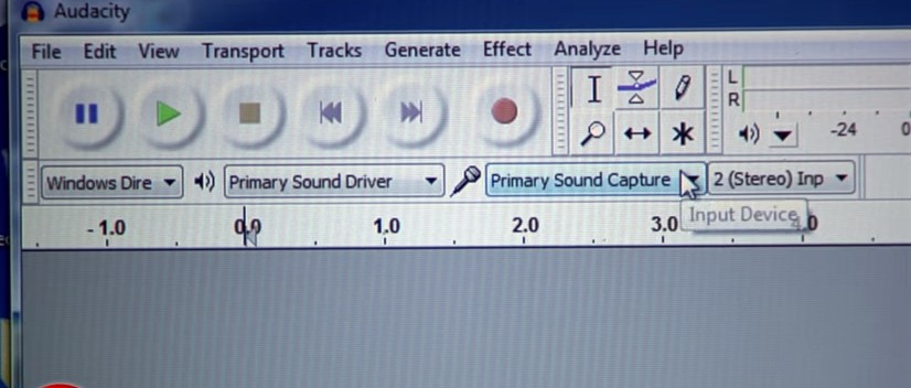 audacity sound capture
