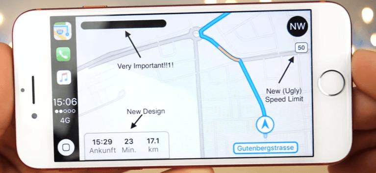 carplay navigation control