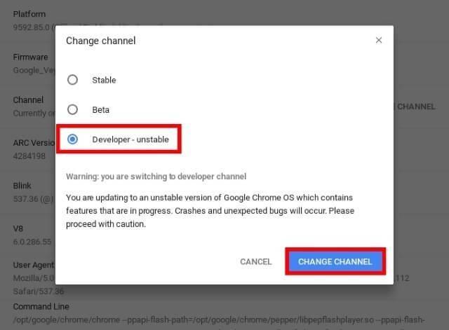 change channel