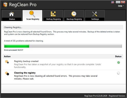 cleaning the registry
