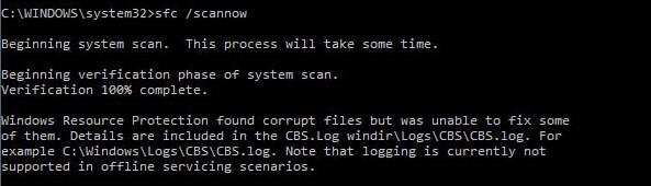 cmd system scan