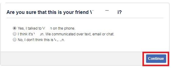 confirm friend