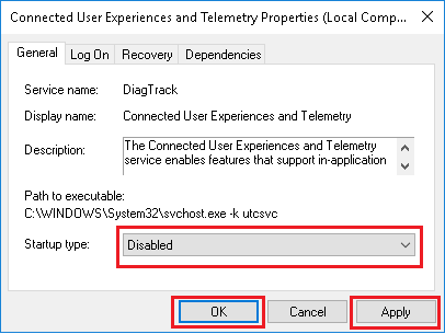 windows 10 disable telemetry