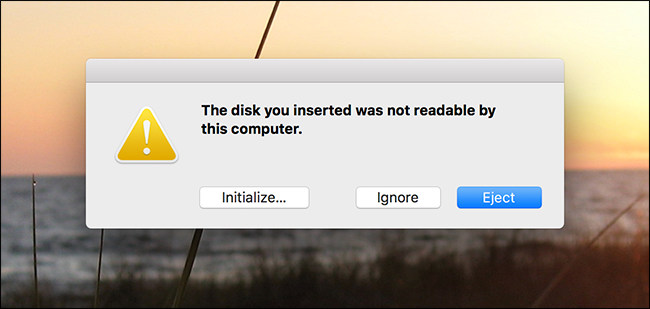 disk not readble mac