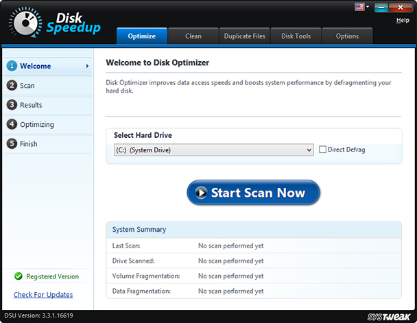 disk speedup best disk defrag tool for windows
