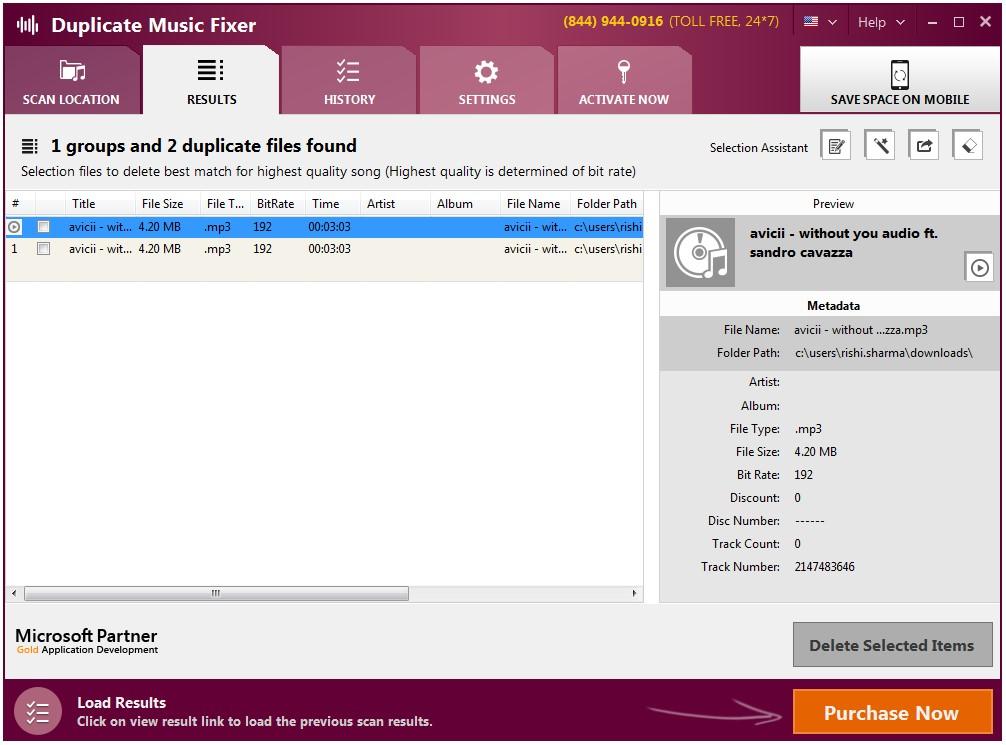 duplicate music fixer duplicate found