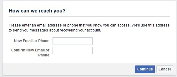 facebook enter email and password