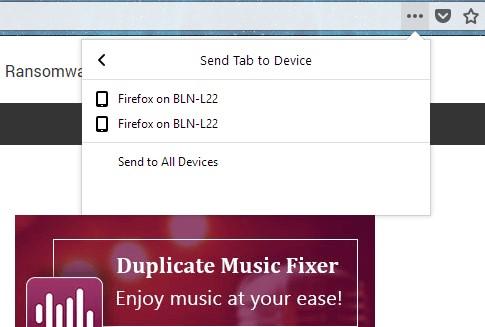 firefox send tab devices