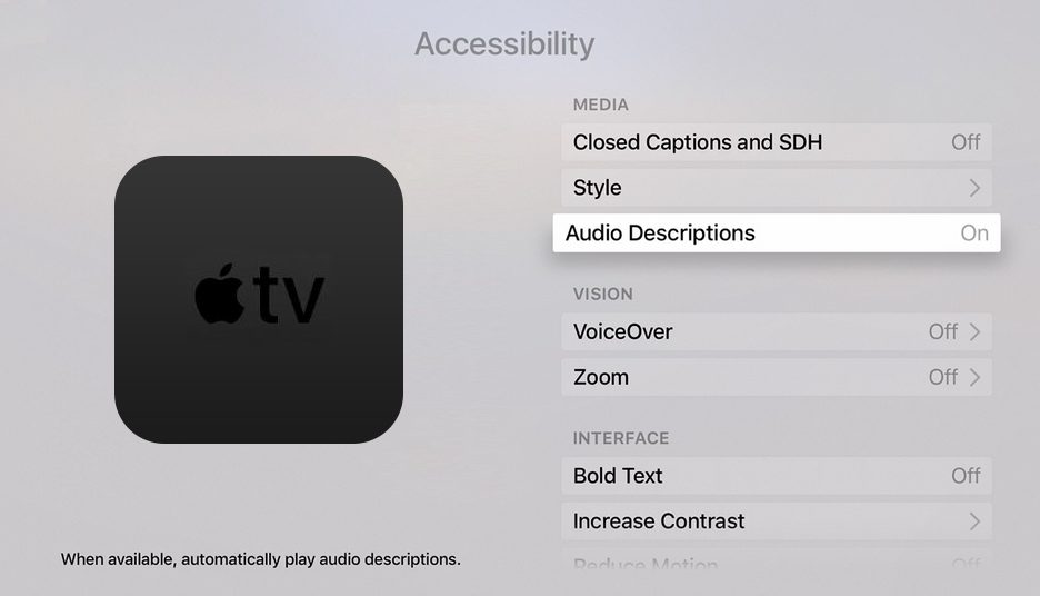 how to change menu button fucation in apple 4k tv