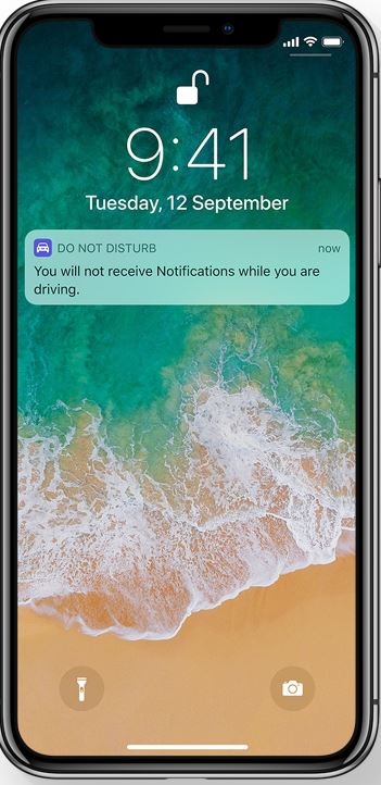 iOS 11 Do not disturb mode