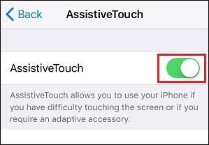 iPhone assistive turn on