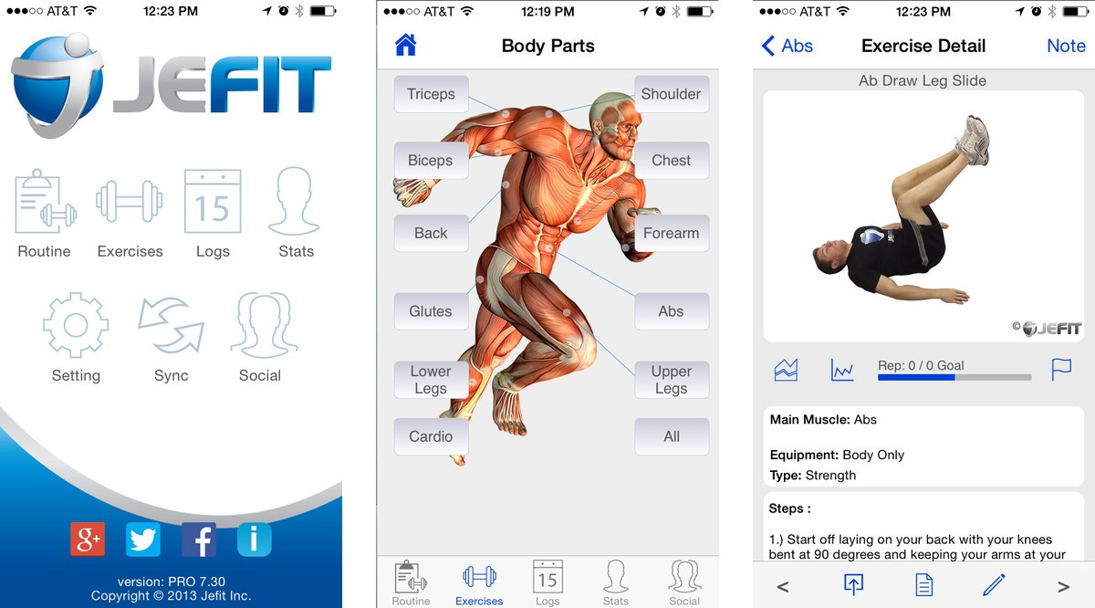 jefit fitness app for iphone and android