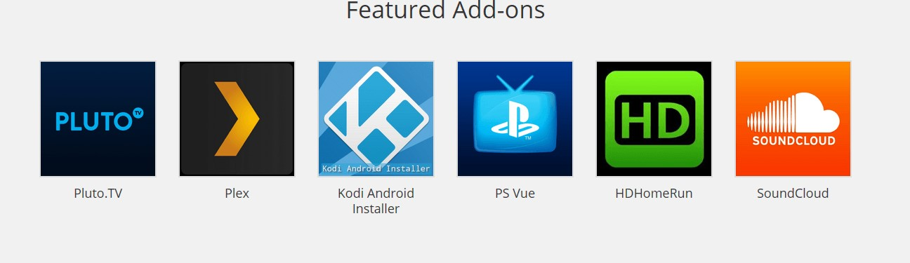 kodi featured add on