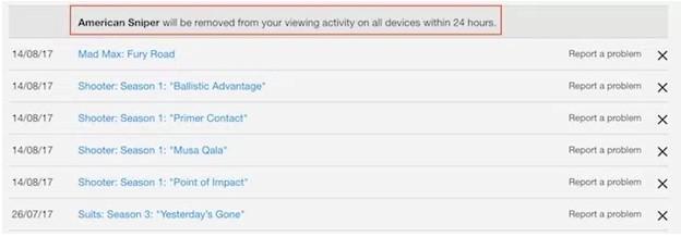 netflix Continue Watching list