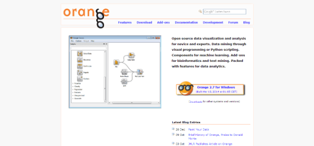 data mining software features
