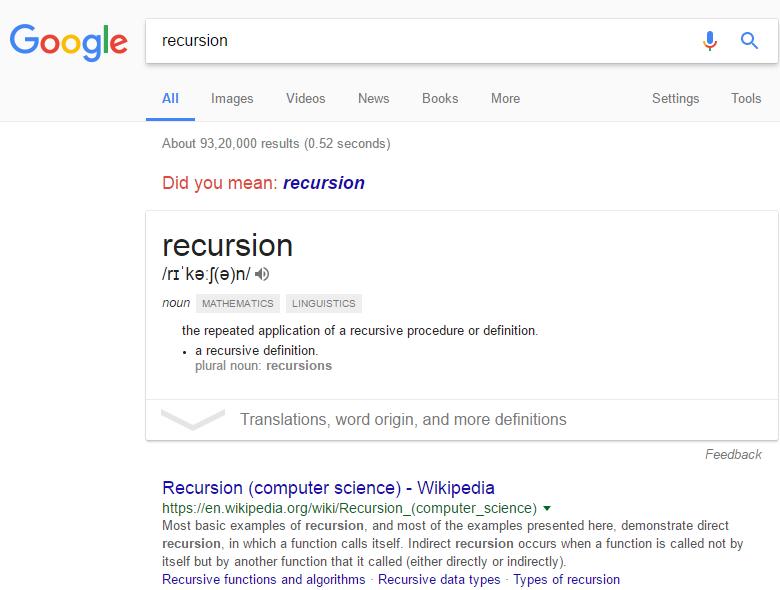 recursion-search-on-google