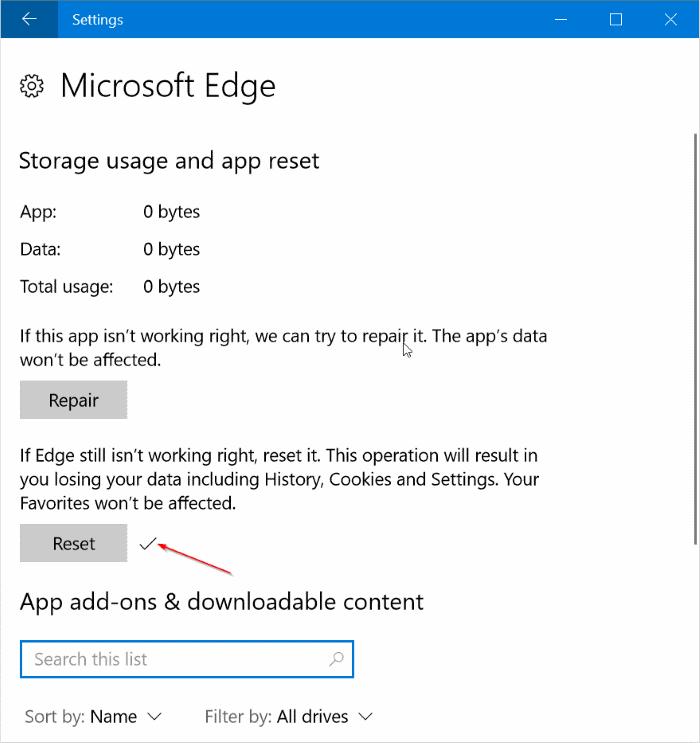 repair or reset edge