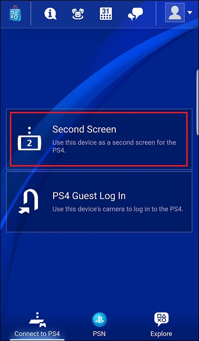 second screen for ps4