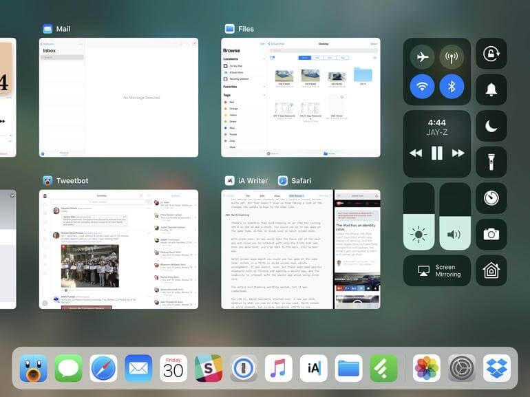 split view ipad ios 11