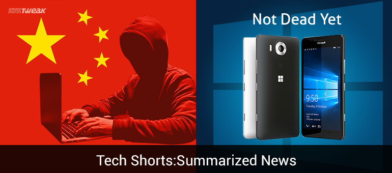 NEWSLETTER: CHINA'S CYBER TRUCE WITH CANADA & WINDOWS 10 NEW UPDATES