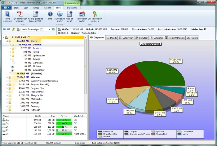 10 Best Disk Space Analyzer Software for Windows 10/8/7/XP