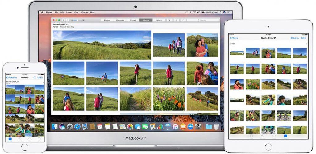upload photos to icloud