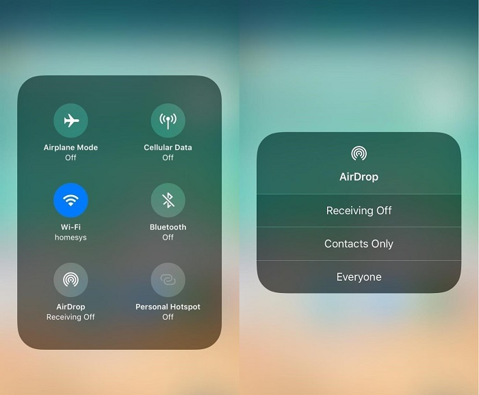 use airdrop as need