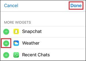 Iphone weather widget not updating
