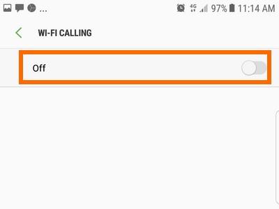 wifi calling off