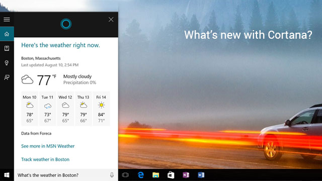 windows 10 new cortana